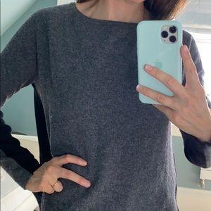 Knyt&lynk 100% cashmere sweater grey/ black S
